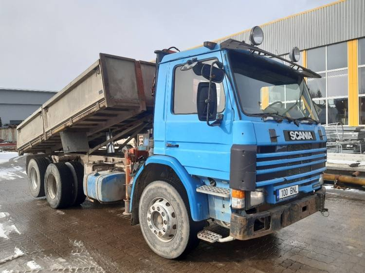 SCANIA P92HL 6X2LC BACKTIPPER WITH CRANE